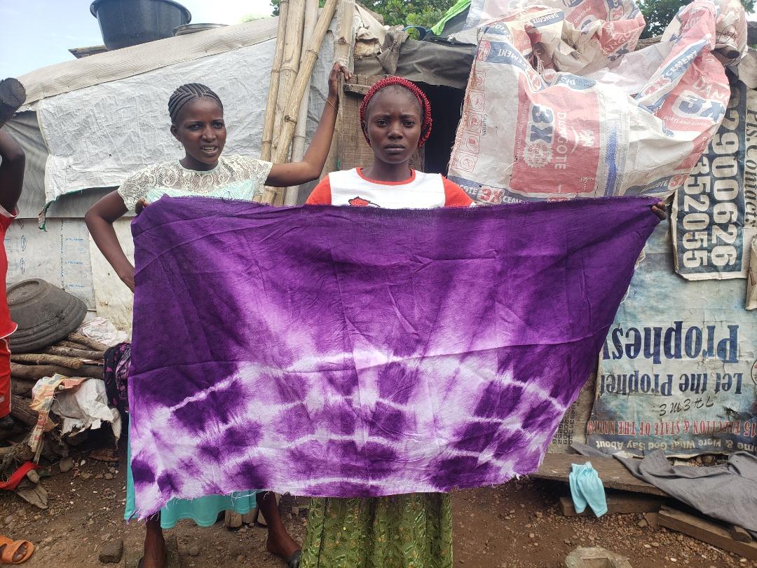 Handmade fabrik made by IDP women