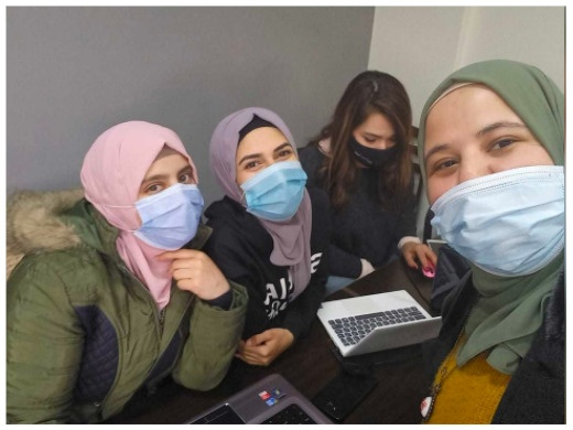 Annotation training in Beqaa, with Muzna @TechfugeesLebanon